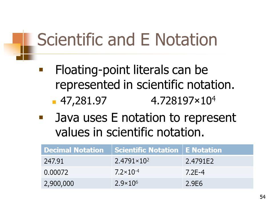 e notation scientific