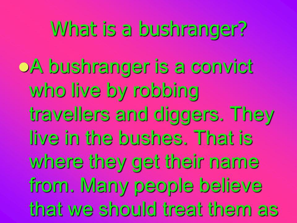 What is a bushranger