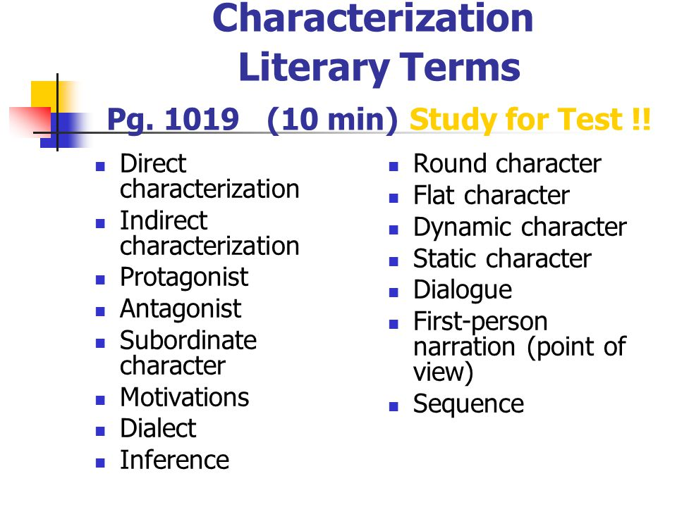 Characterization Notes RIGHT SIDE ppt download – Direct and Indirect Characterization Worksheet
