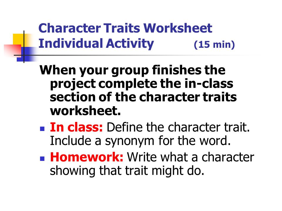 Characterization Notes Right Side Ppt Video Online Download