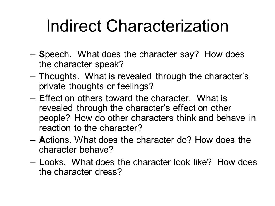 Characterization Direct and Indirect ppt download – Direct and Indirect Characterization Worksheet