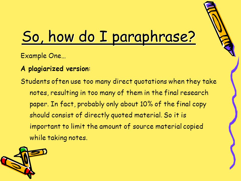 using too many quotes research paper