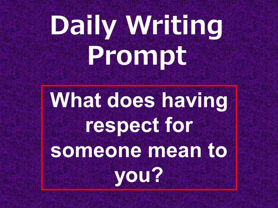 respect essay prompt Virginia tech 2017-18 supplemental essay prompt guide  status that might  explain how you will enrich the climate of mutual respect and understanding here.