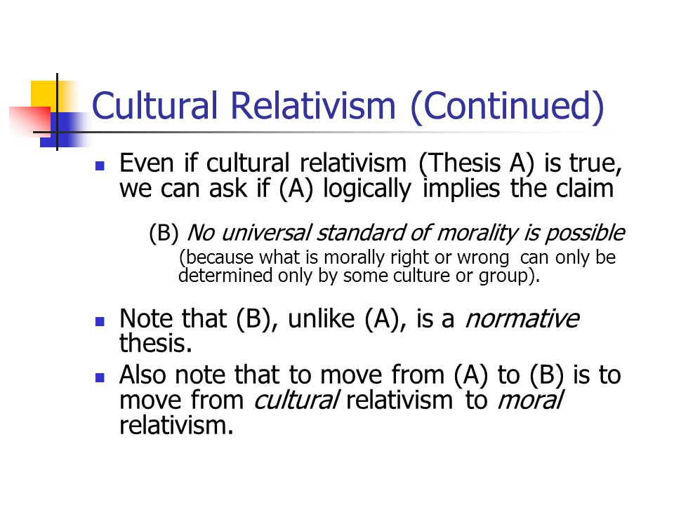 cultural relativism paper thesis Metaethical position of cultural relativism essay - philosophy buy best quality custom written metaethical position of cultural relativism essay.