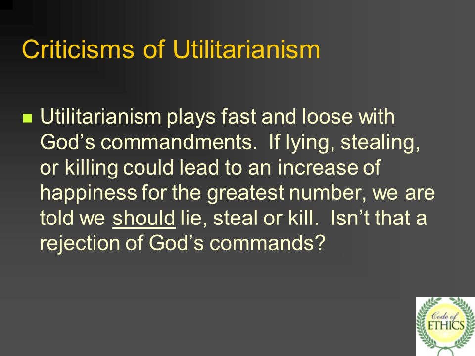 criticisms of utilitarianism After some general introductory comments, the text defends utilitarianism from common criticisms  john stuart mill's moral and political philosophy,.