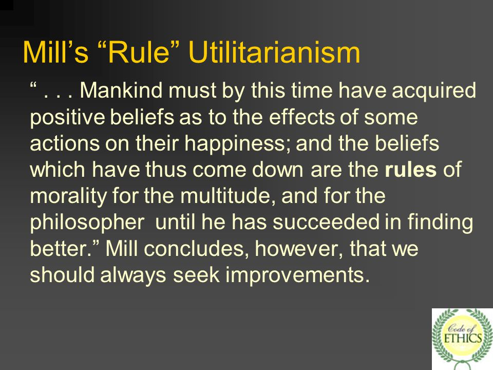 an introduction to the indirect rule of utilitarianism Difference between direct and indirect utilitarianism apply a general rule about what should difference between direct and indirect.