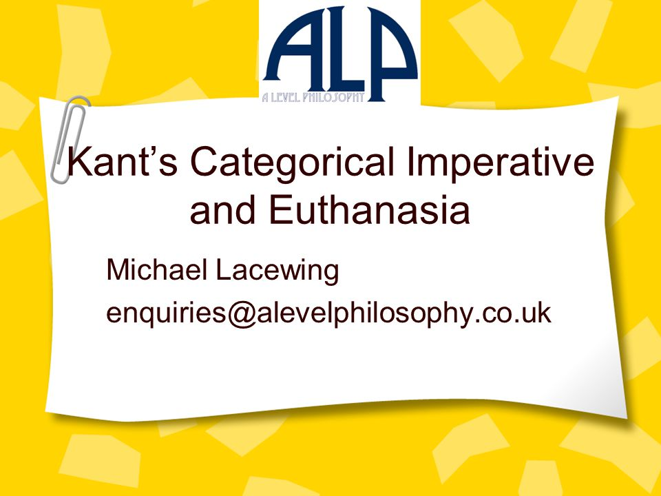 kant and euthanasia Academiaedu is a platform for academics to share research papers.