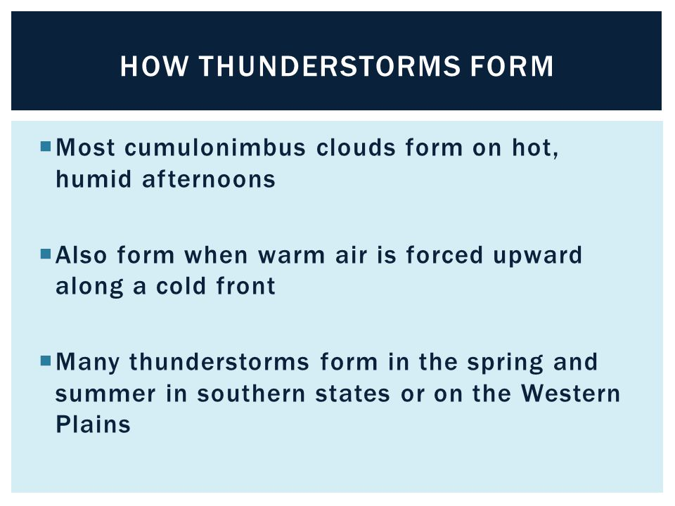 How thunderstorms form