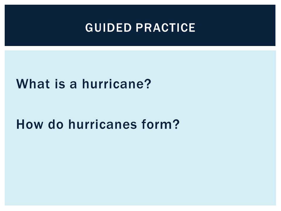What is a hurricane How do hurricanes form
