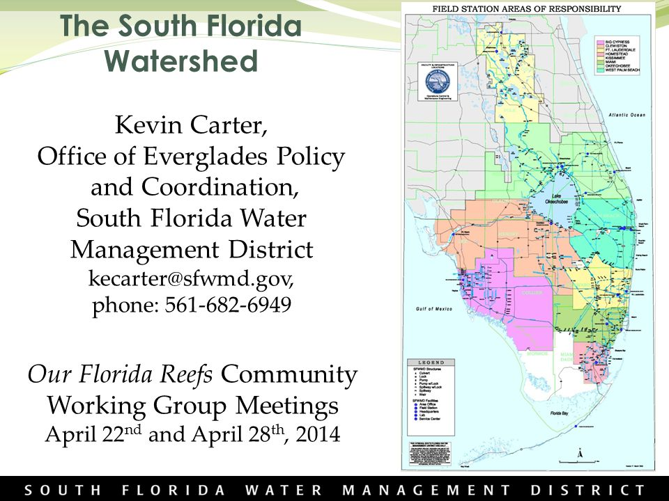 Florida Watershed Map.The South Florida Watershed Ppt Video Online Download