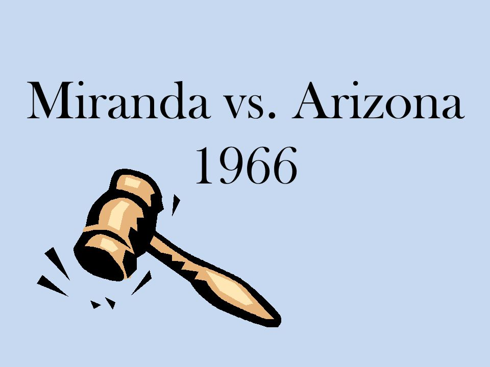 5th amendment right to be free of self-incrimination (miranda v. arizona essay