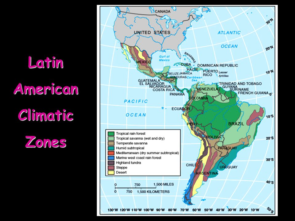 Latin American Climatic Zones