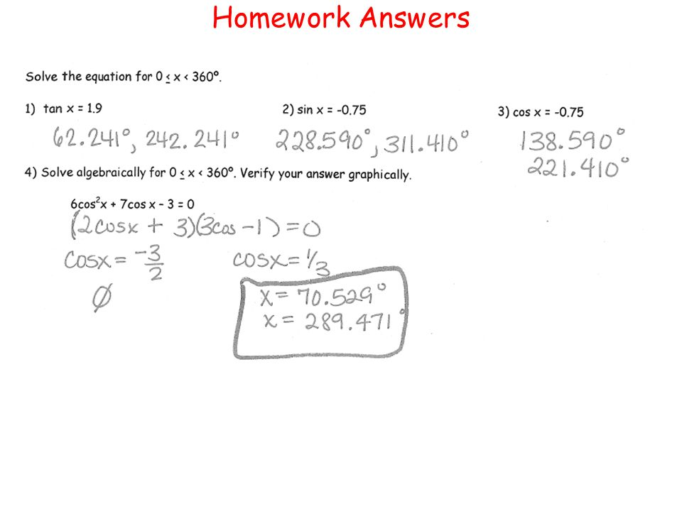 Homework Answers