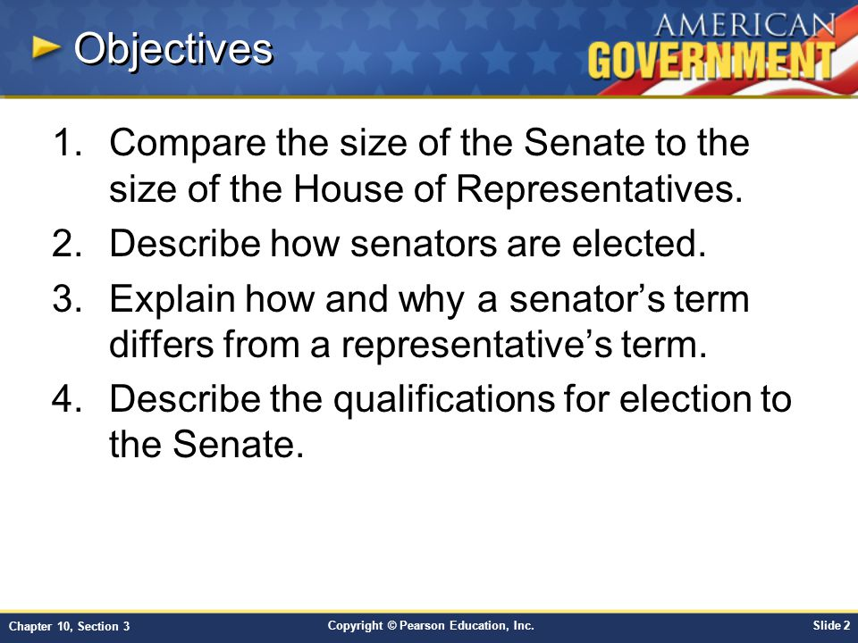 Chapter 10: Congress Section 3 - ppt download