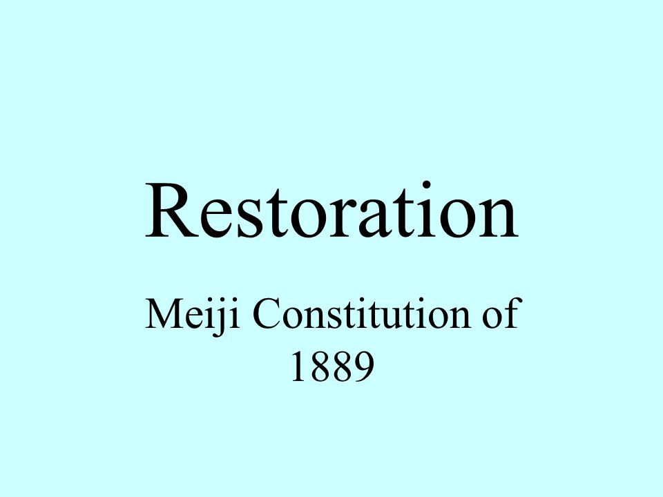 meiji constitution The constitution of the empire of japan(大日本帝國憲法), more commonly known as the imperial or meiji constitution, was the fundamental law of the empire of japan from 1889 until 1947.