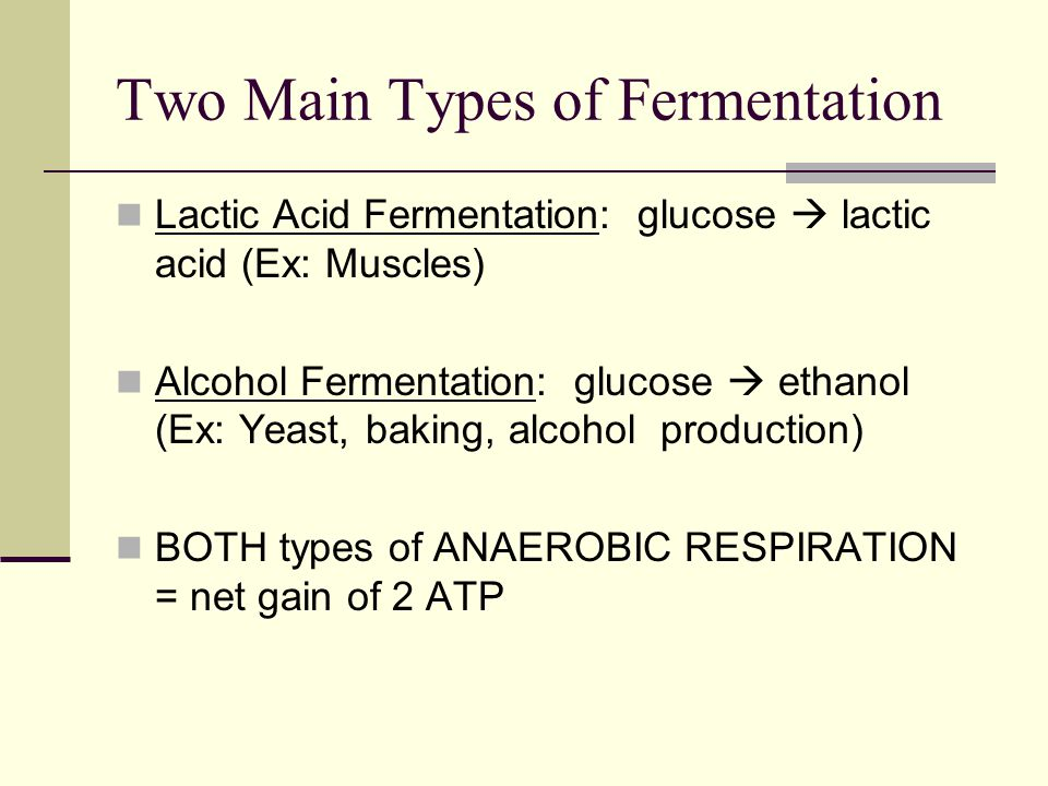 Fermentation process of alcohol production