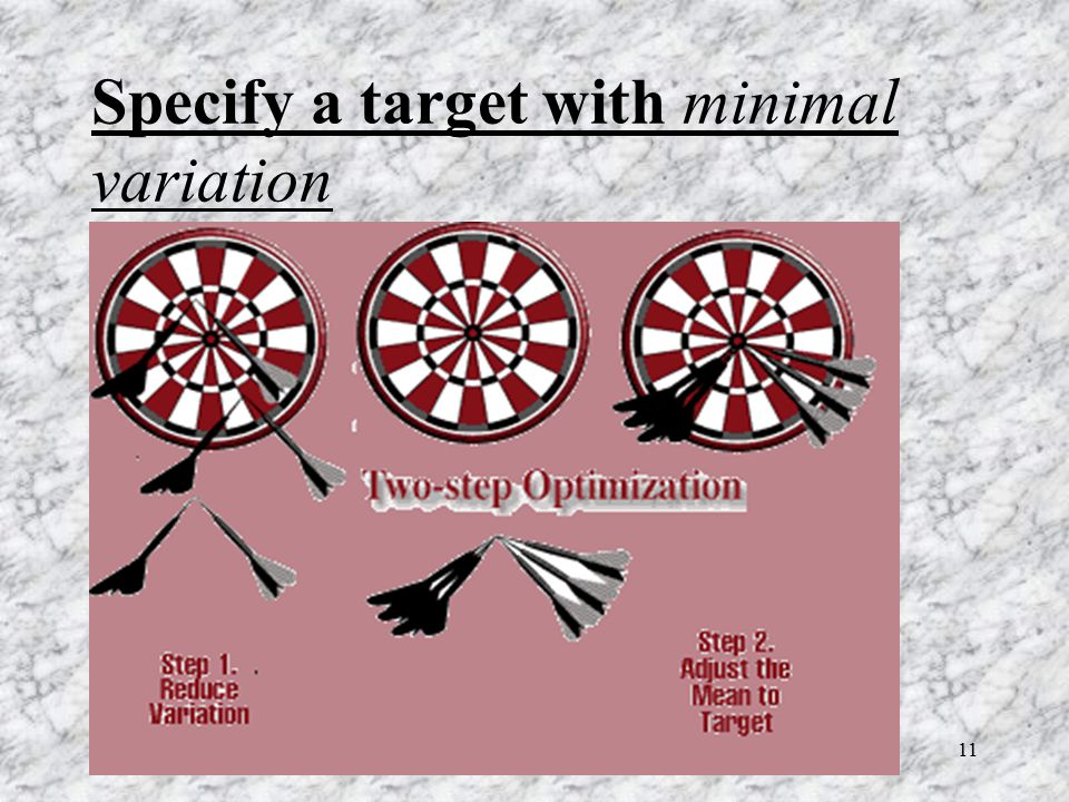 Specify a target with minimal variation