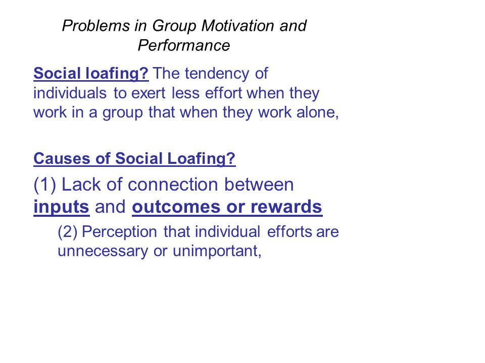 Problems cause by lack of motivation in the workplace