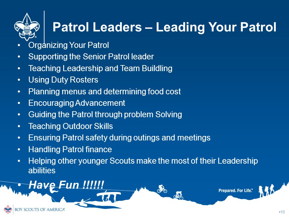 Patrol Leaders – Leading Your Patrol