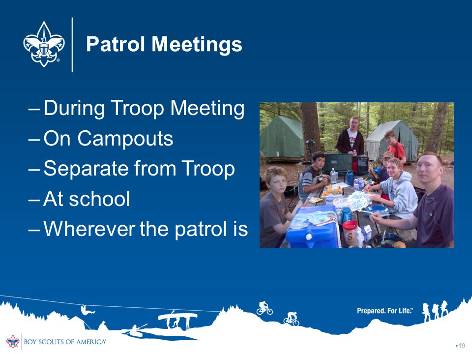 Patrol Meetings During Troop Meeting On Campouts Separate from Troop