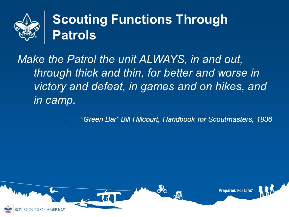 Scouting Functions Through Patrols