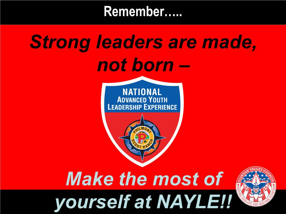 Strong leaders are made,