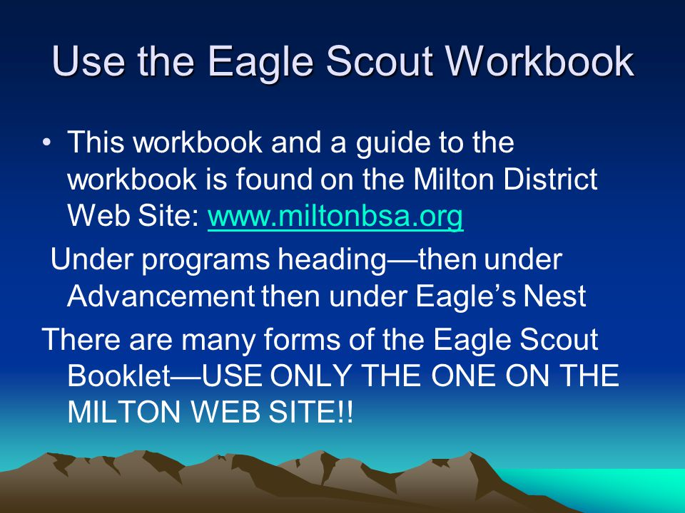 Life to Eagle Scout Project Proposal and Related Procedures ppt – Eagle Scout Worksheet