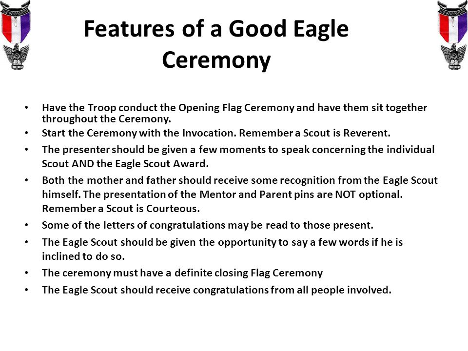 Youve passed the board of review now what ppt video online features of a good eagle ceremony thecheapjerseys Gallery