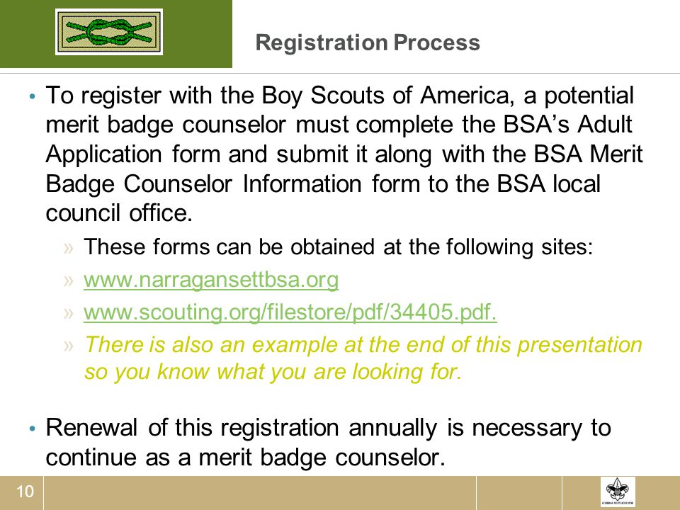Merit Badge Counselor Training Guide - ppt download