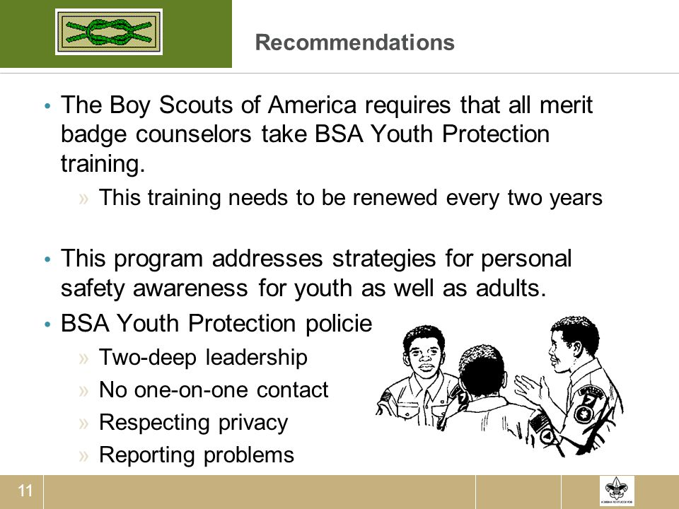 BSA Youth Protection policies include