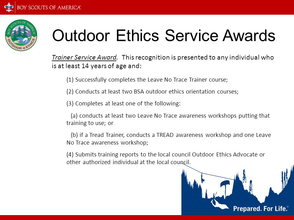 Outdoor Ethics Service Awards