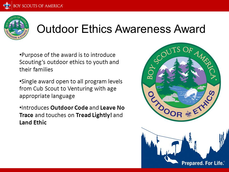 Outdoor Ethics Awareness Award
