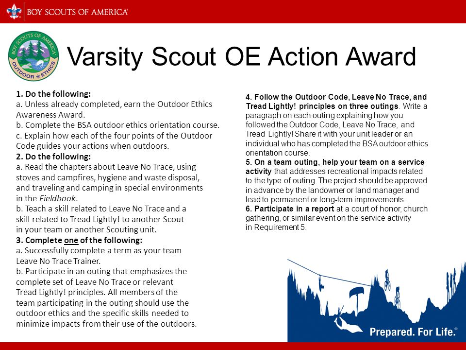 Varsity Scout OE Action Award