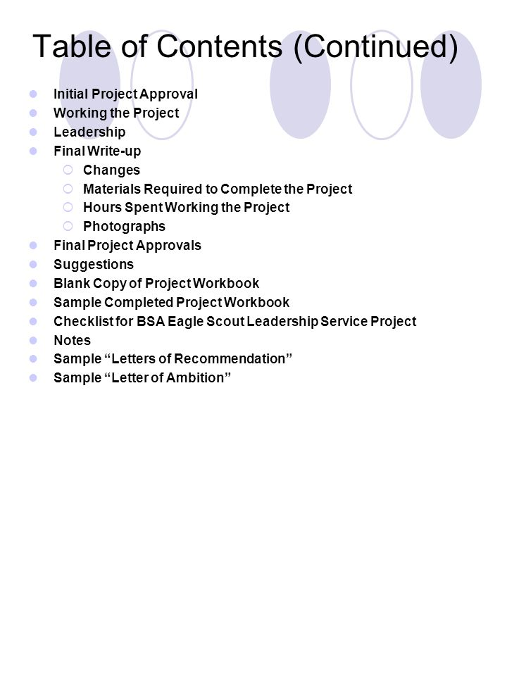 Eagle Scout Leadership Service Project Planning Guide - Ppt Download