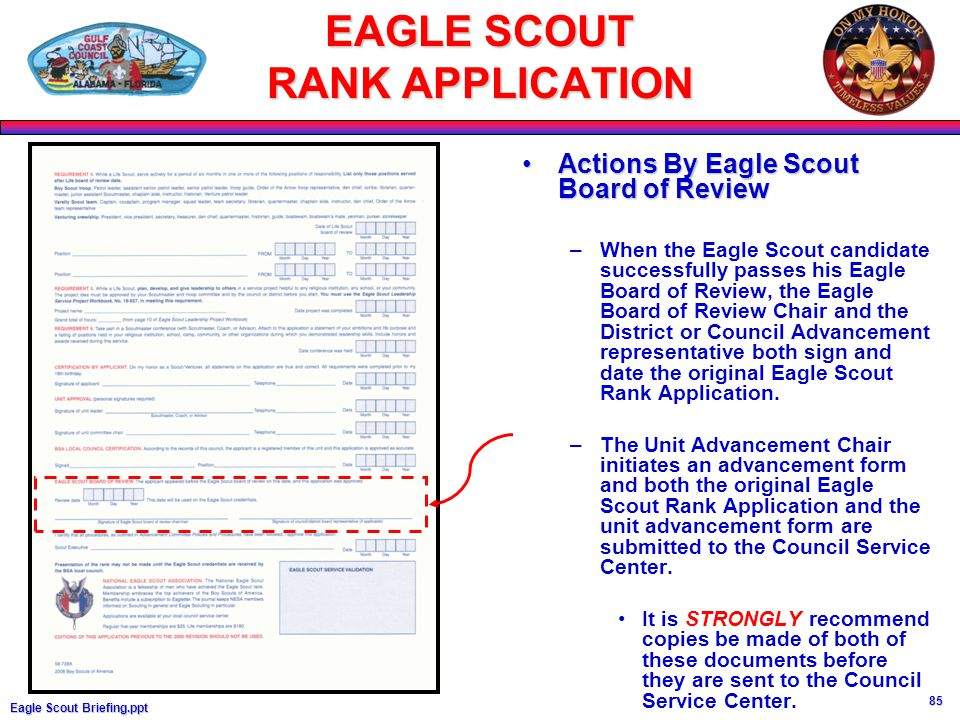 EAGLE SCOUT INFORMATION, REQUIREMENTS, - ppt download
