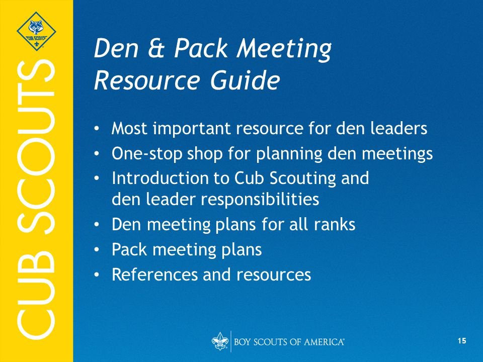 Den & Pack Meeting Resource Guide