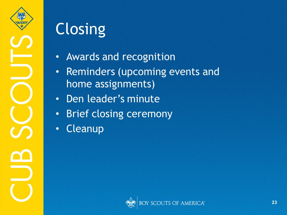 Closing Awards and recognition