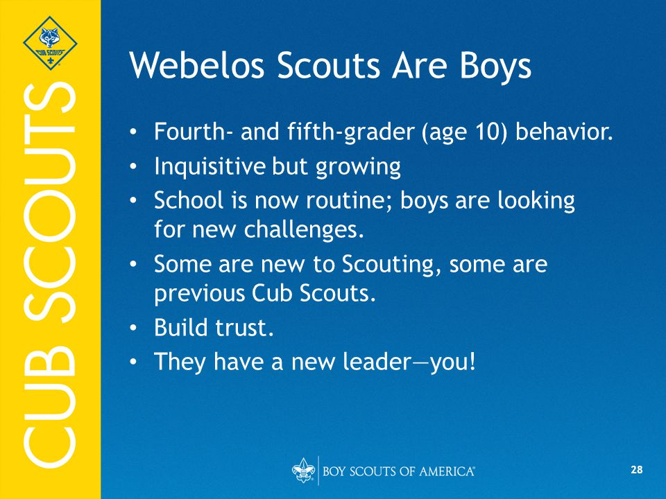 Webelos Scouts Are Boys