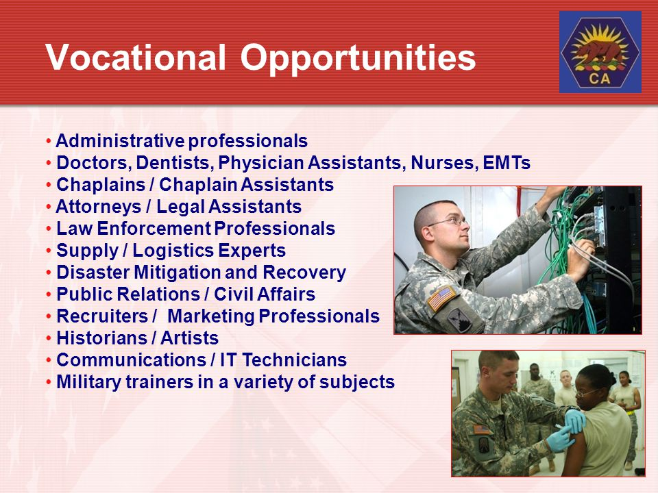 Vocational Opportunities
