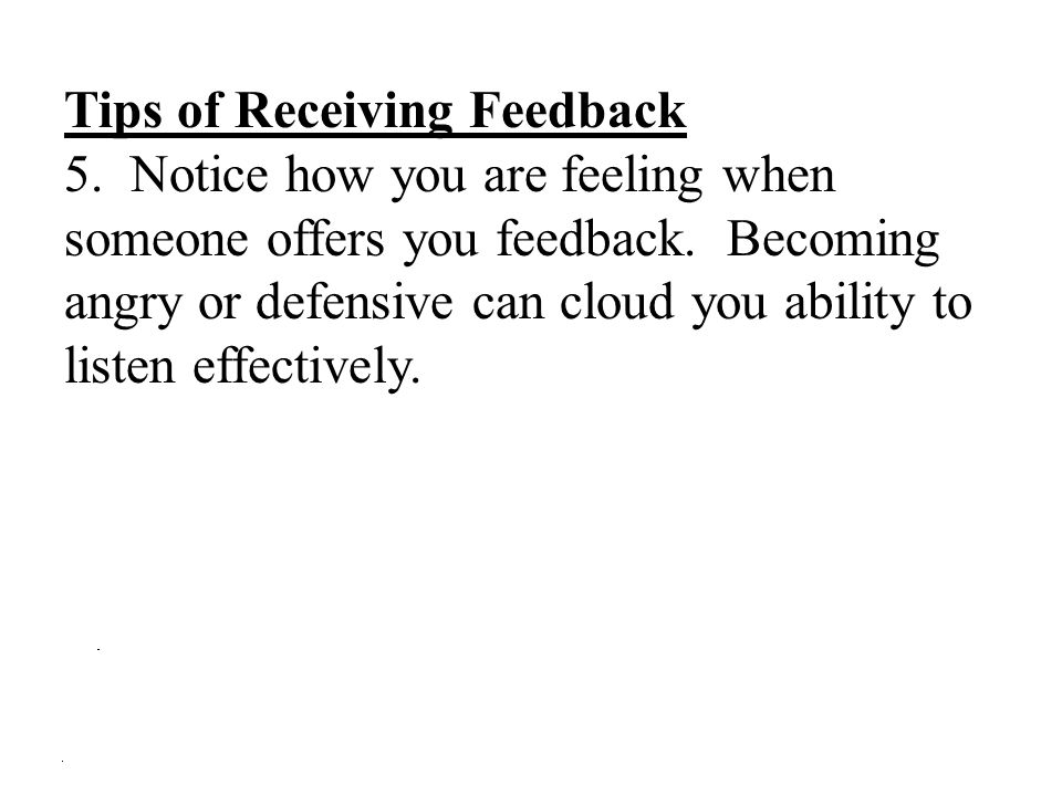 Tips of Receiving Feedback