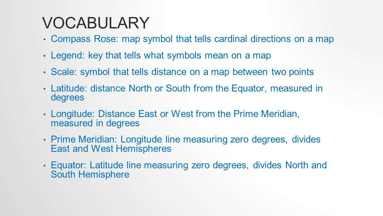 Vocabulary compass rose map symbol that tells cardinal directions 2 types buycottarizona Images
