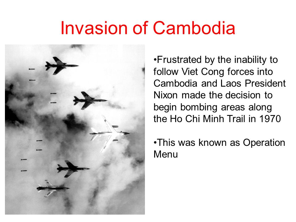 an analysis of the nixons invasion of cambodia Nixon, kissinger and vietnam, 1969-1973  secret bombing of cambodia - madman theory  invasion of laos.