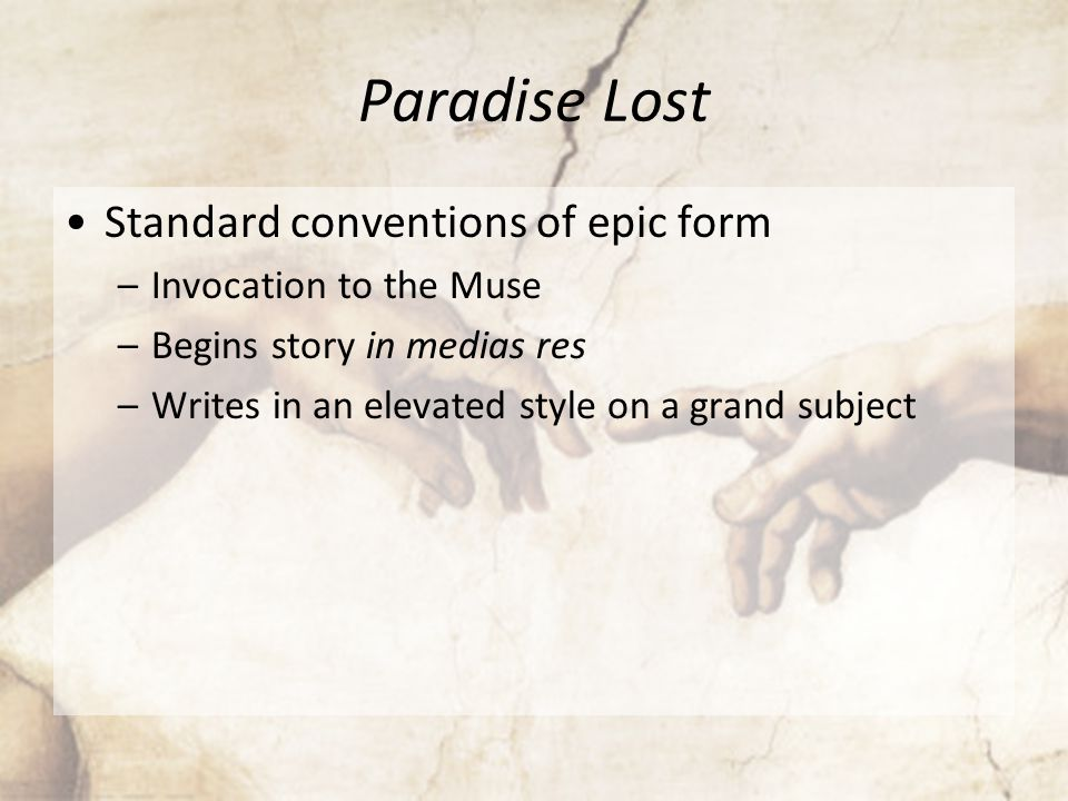 an analysis of the fall of man in an epic poem paradise lost by john milton Satan the epic hero in john milton's epic poem, , he recreates the genesis story of the fall of man, as it was caused by satan it is satan's fatal flaws of pride and.