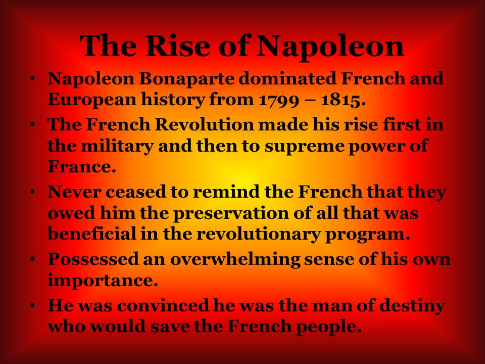 how far does luck explain the rise and fall of napoleon bonaparte essay Essays on rise and fall of the rise and fall of napoleon bonaparte, volume 2 the next step by napoleon proves that one cannot blame luck alone for the fall.