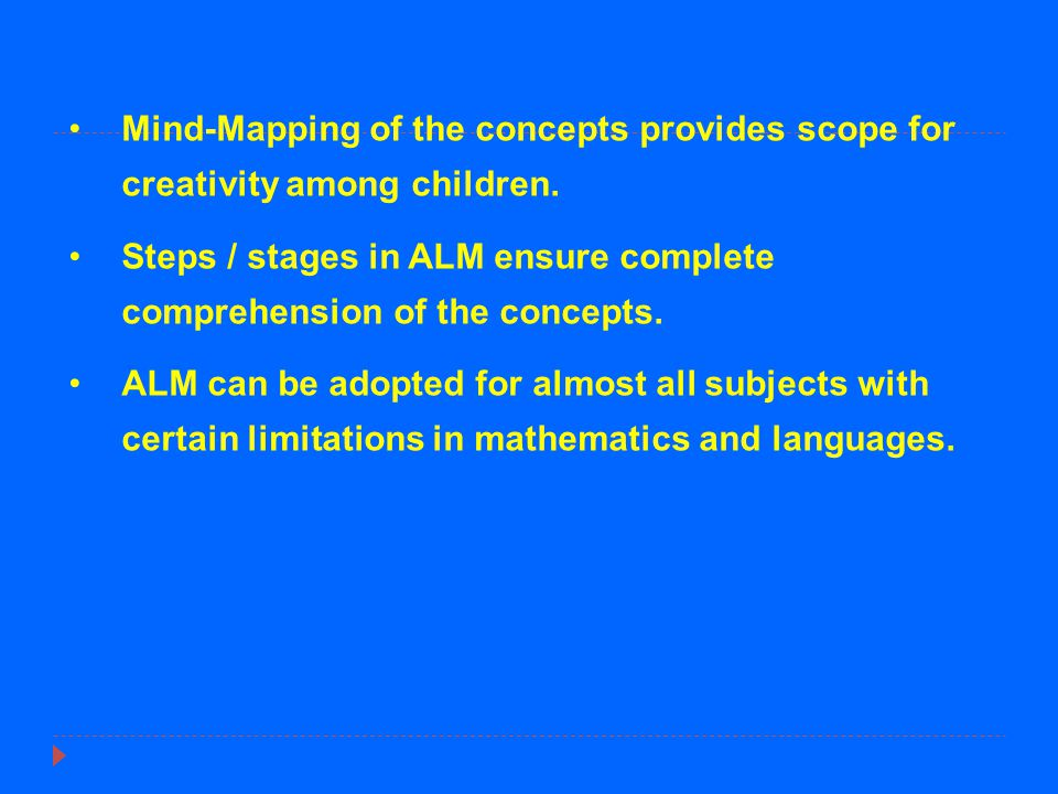 Mind-Mapping of the concepts provides scope for creativity among children.