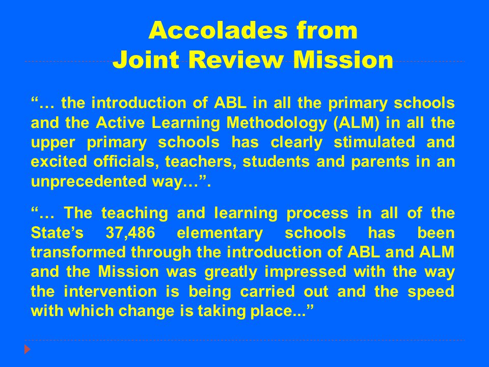 Accolades from Joint Review Mission