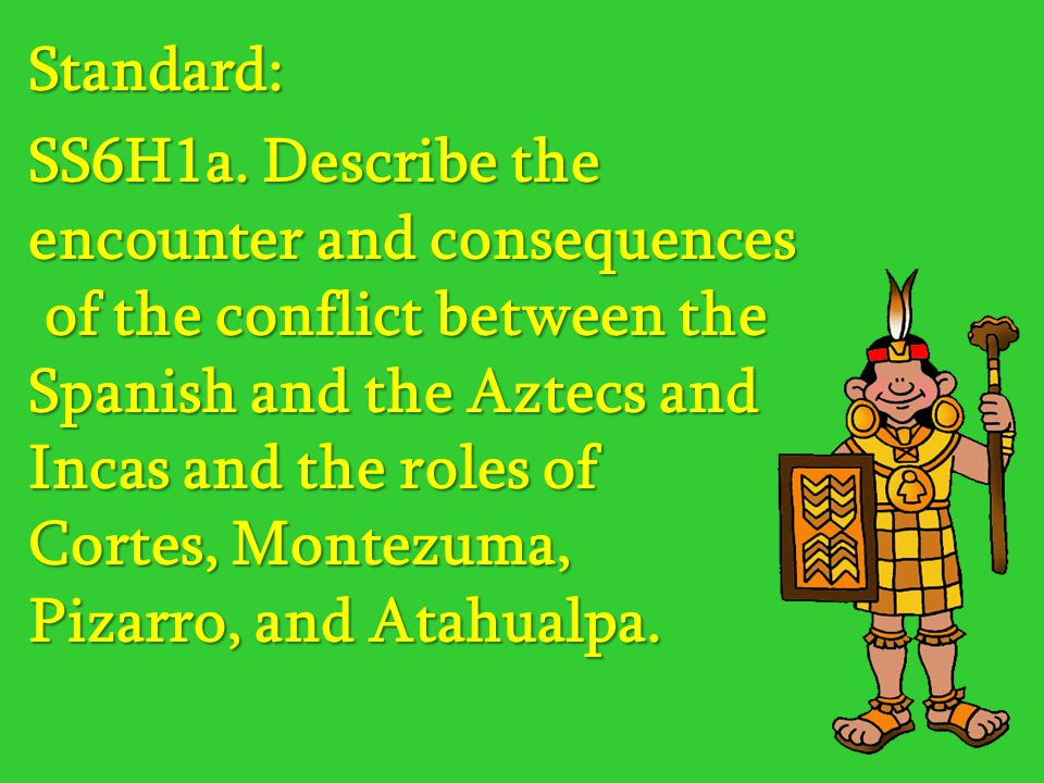 an analysis of the aztec encounter between the spaniards and aztecs in central america In 1519, inspired by rumors of gold and the existence of large, sophisticated cities in the mexican interior, hernán cortés (1485-1547) was appointed to head an expedition of eleven ships and five hundred men to mexico at that time the great empire of the mexica—now known as the aztecs.