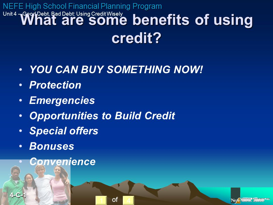 What are some benefits of using credit