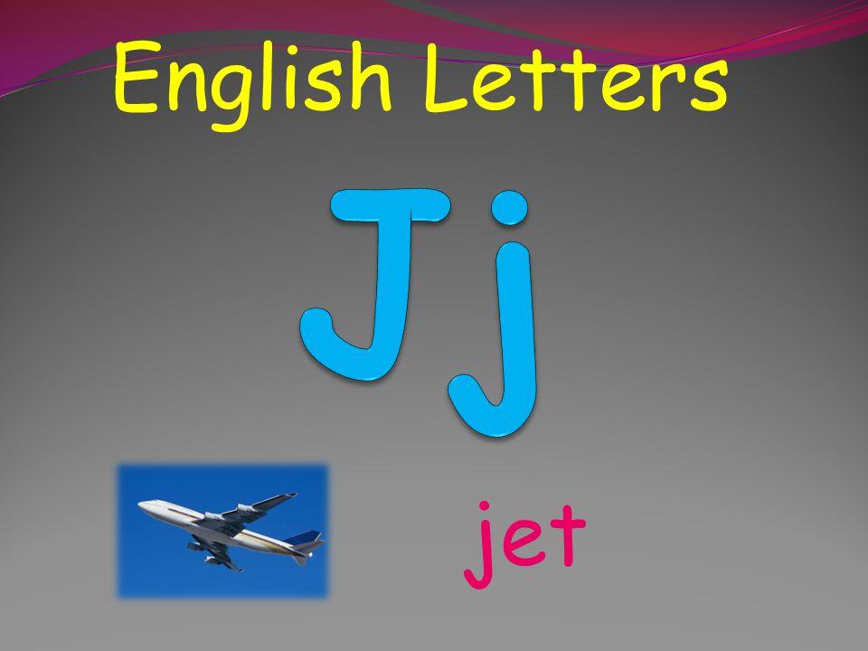 English Letters Jj jet