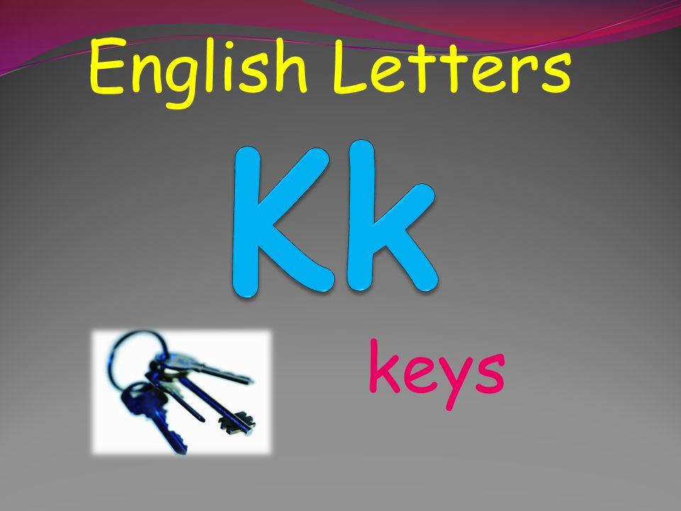 English Letters Kk keys